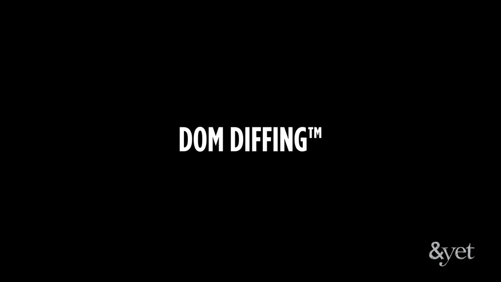 DOM DIFFING™