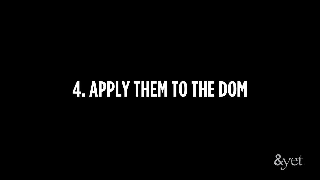 4. APPLY THEM TO THE DOM