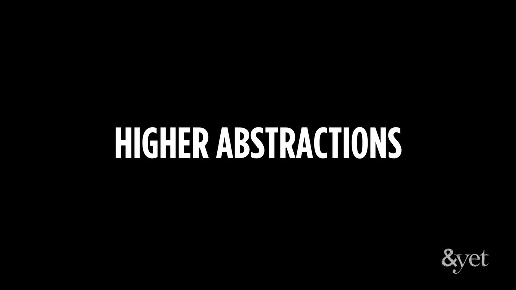 HIGHER ABSTRACTIONS