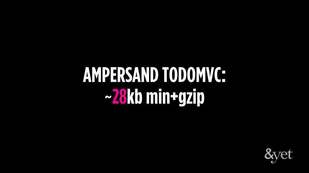 AMPERSAND TODOMVC: ~28kb min+gzip
