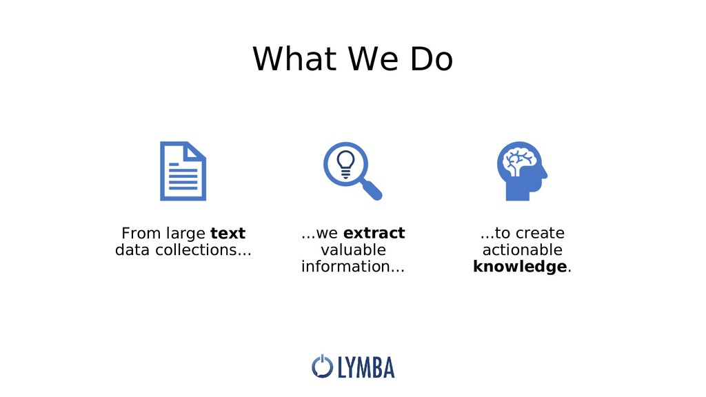 What We Do From large text data collections... ...