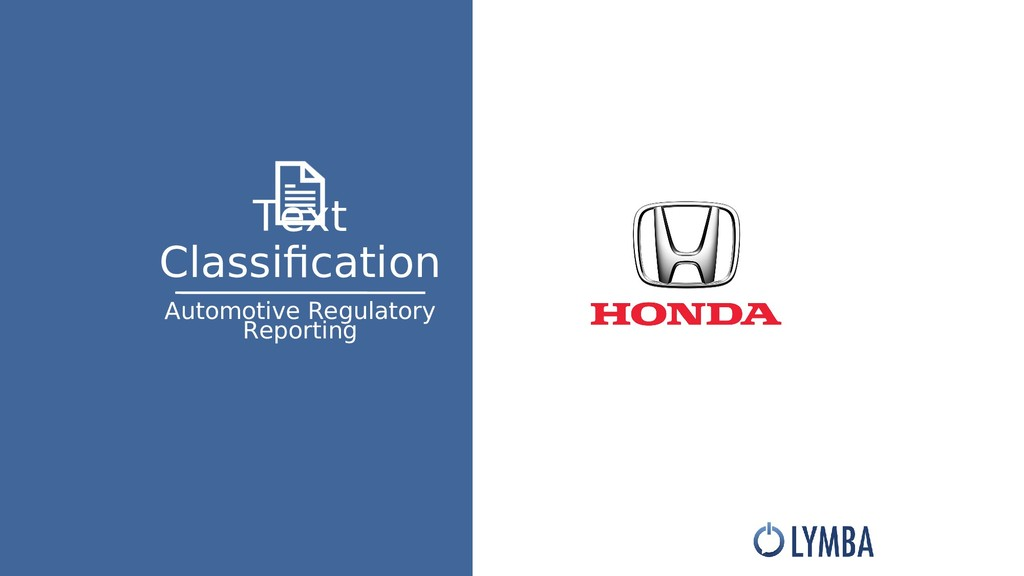 Text Classifcation Automotive Regulatory Report...