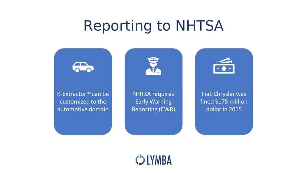 Reporting to NHTSA