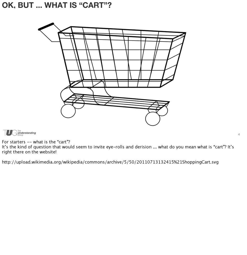 """OK, BUT ... WHAT IS """"CART""""? 4 For starters -- w..."""