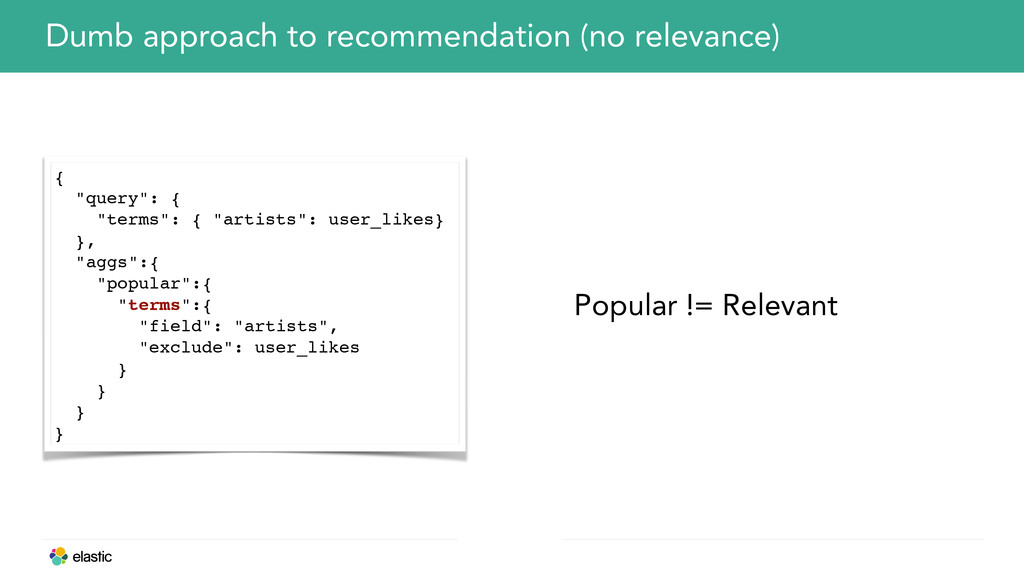 Dumb approach to recommendation (no relevance) ...