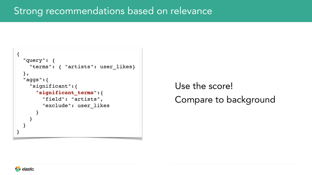 Strong recommendations based on relevance Use t...