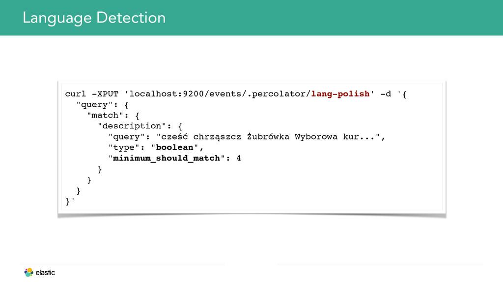 Language Detection curl -XPUT 'localhost:9200/e...