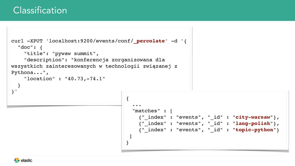 Classification curl -XPUT 'localhost:9200/event...