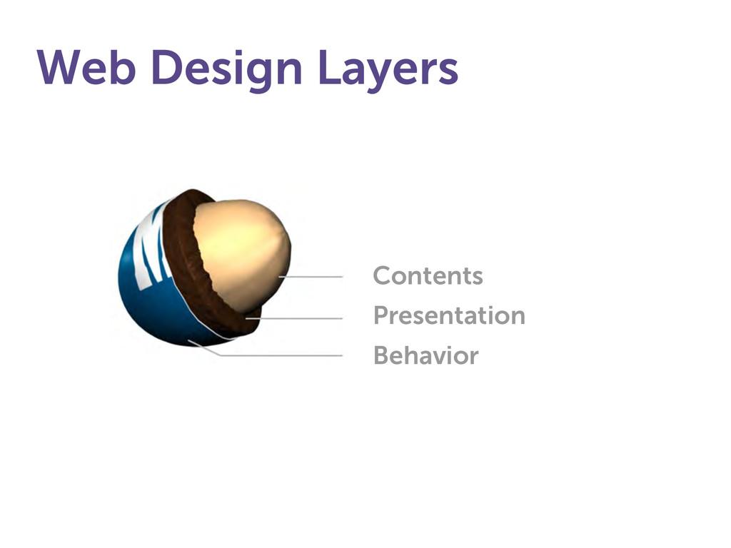 Web Design Layers Contents Presentation Behavior