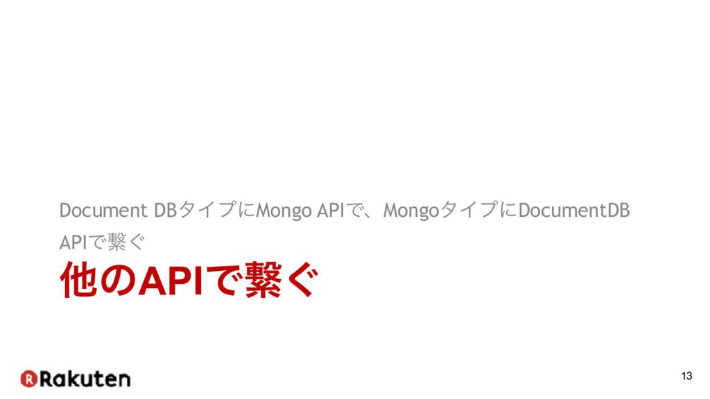 ଞͷAPIͰܨ͙ Document DBλΠϓʹMongo APIͰɺMongoλΠϓʹDoc...