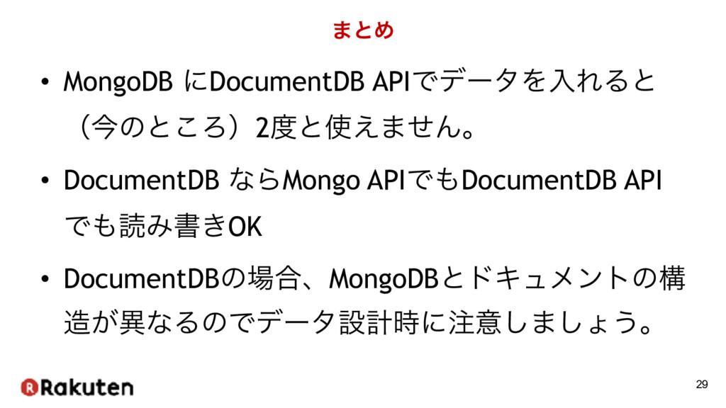 ·ͱΊ • MongoDB ʹDocumentDB APIͰσʔλΛೖΕΔͱ ʢࠓͷͱ͜Ζʣ2...