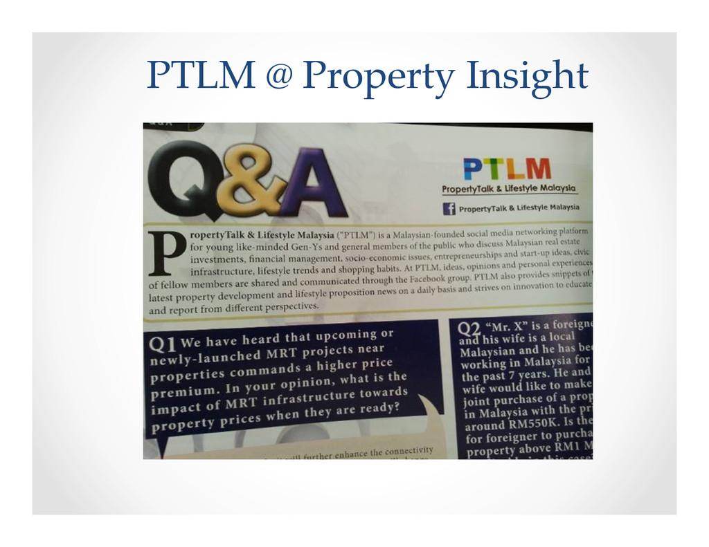 PTLM @ Property Insight