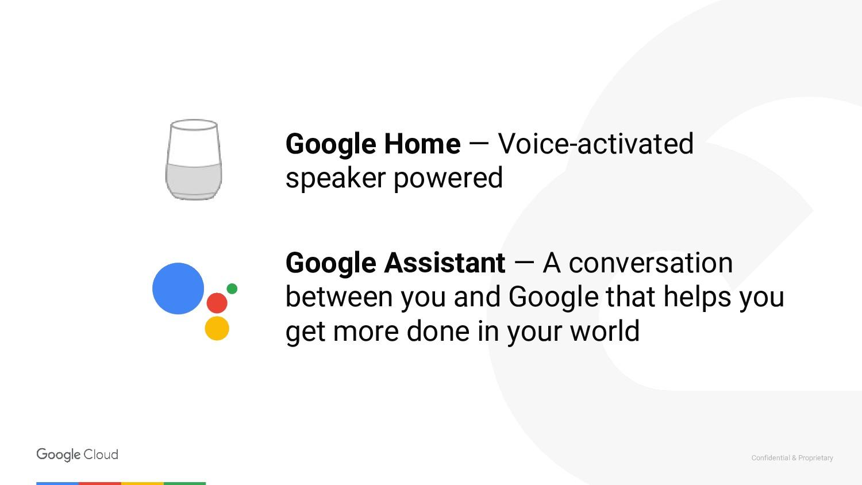 Confidential & Proprietary Google Home — Voice-...