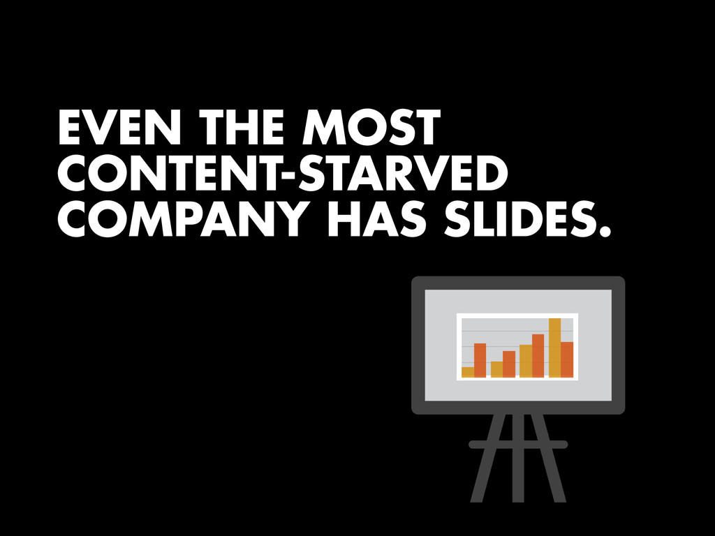 EVEN THE MOST CONTENT-STARVED COMPANY HAS SLIDE...