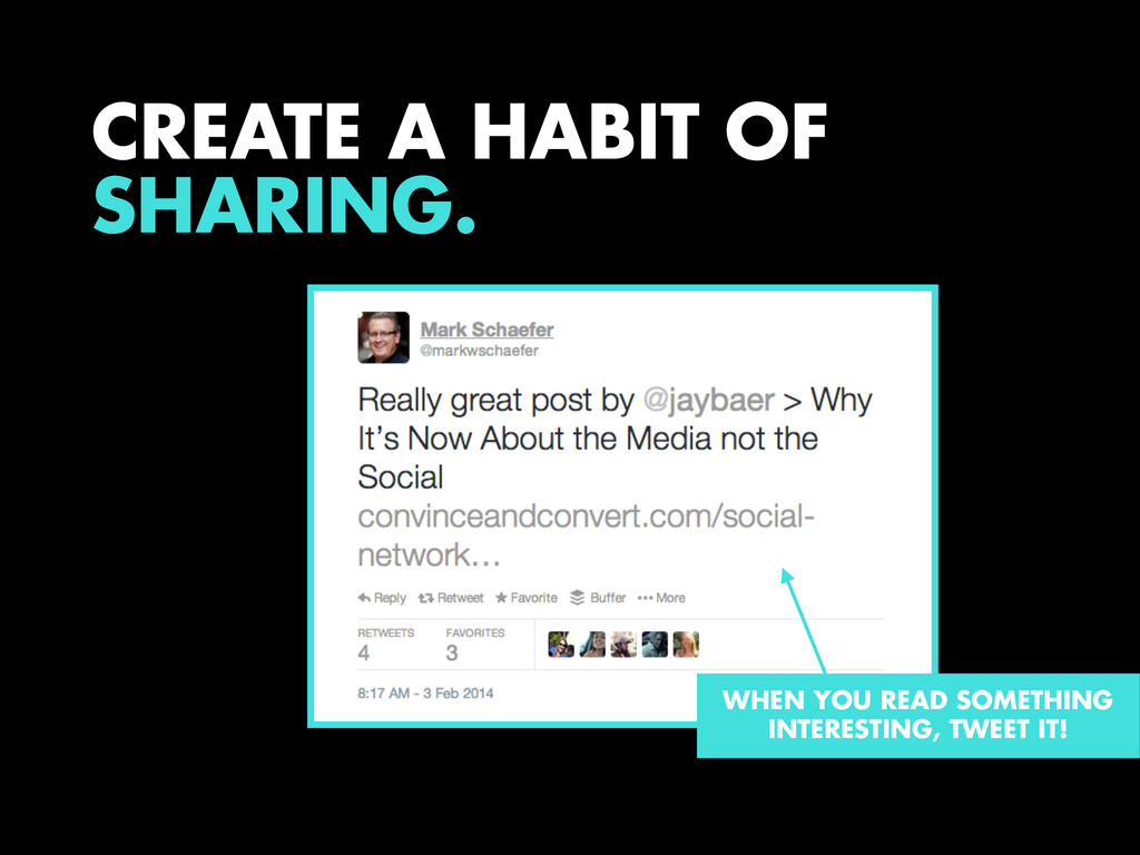 CREATE A HABIT OF SHARING. WHEN YOU READ SOMETH...