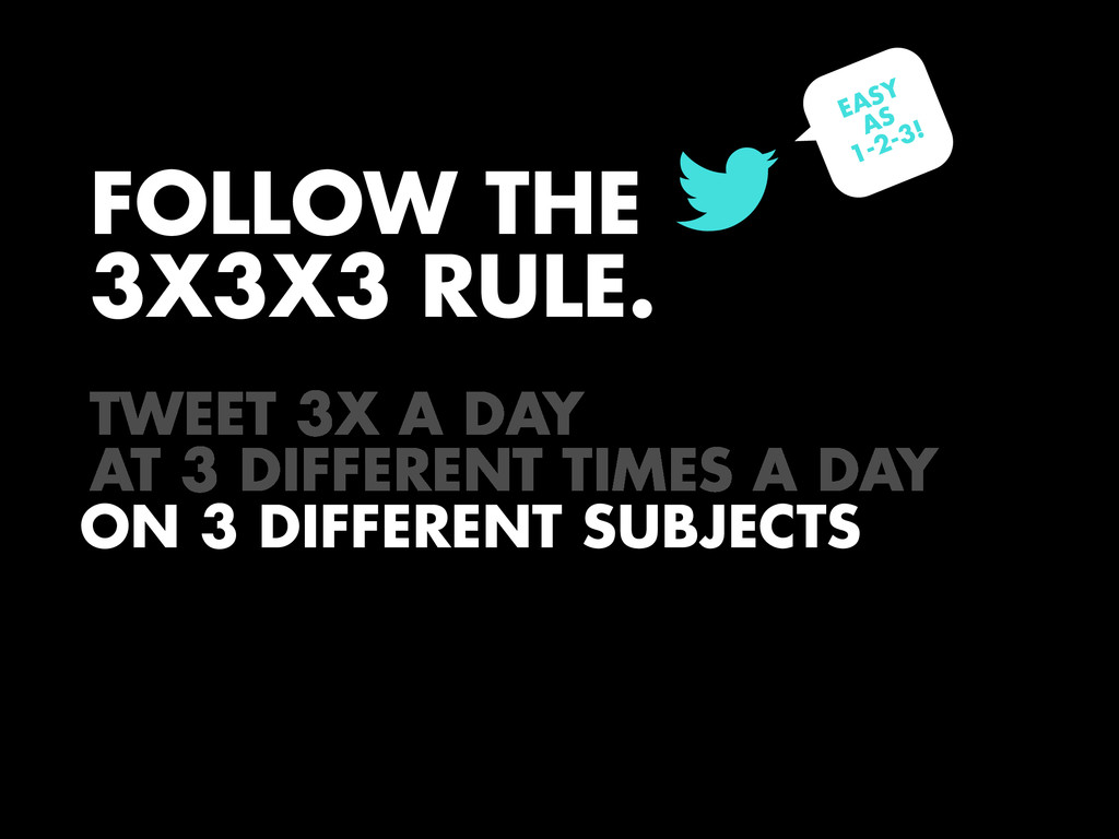FOLLOW THE 3X3X3 RULE. ! ! ON 3 DIFFERENT SUBJE...