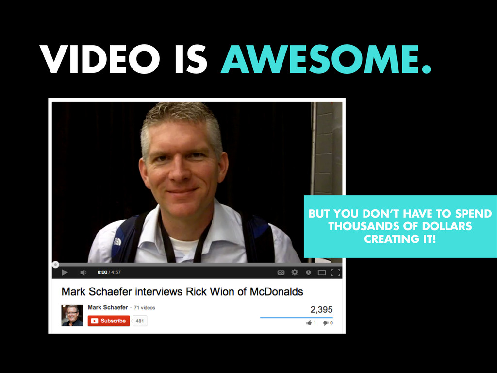 VIDEO IS AWESOME. BUT YOU DON'T HAVE TO SPEND T...
