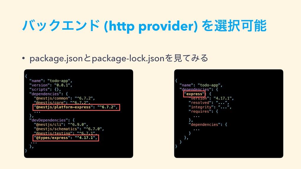όοΫΤϯυ (http provider) ΛબՄ • package.jsonͱpac...