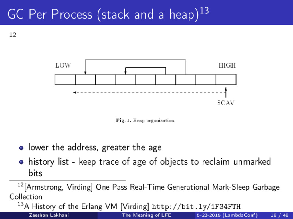 GC Per Process (stack and a heap)13 12 lower th...