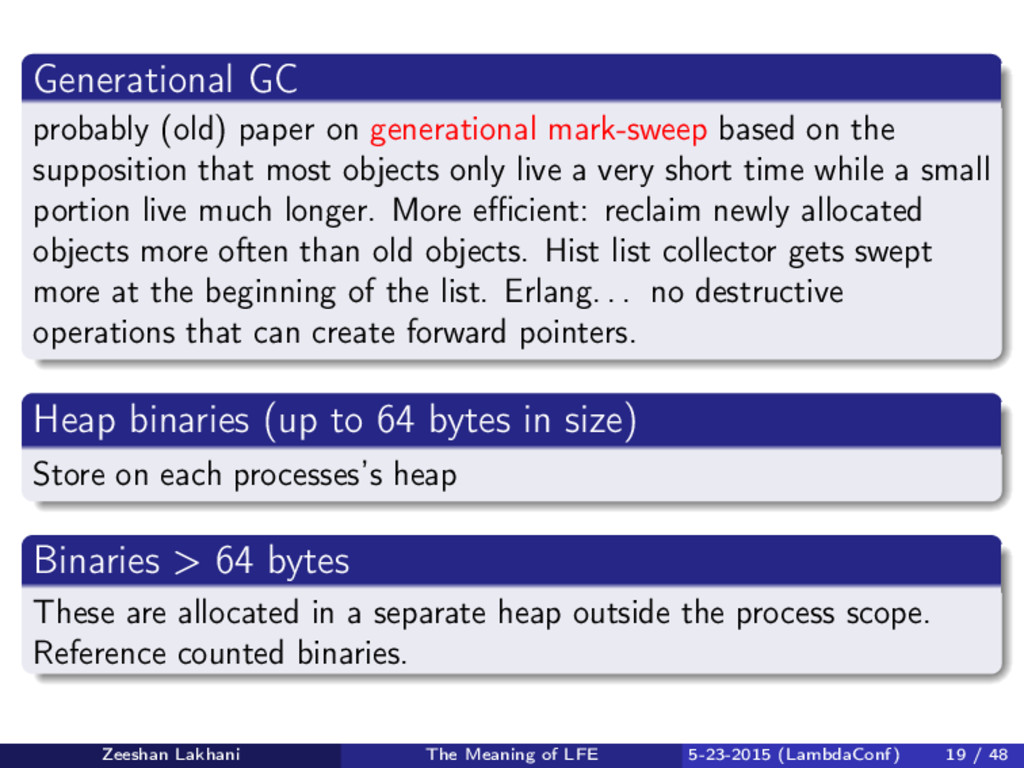 Generational GC probably (old) paper on generat...