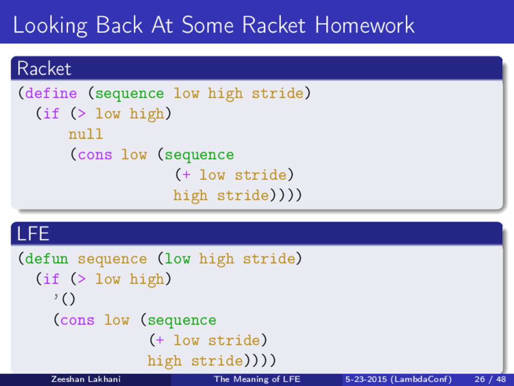 Looking Back At Some Racket Homework Racket (de...