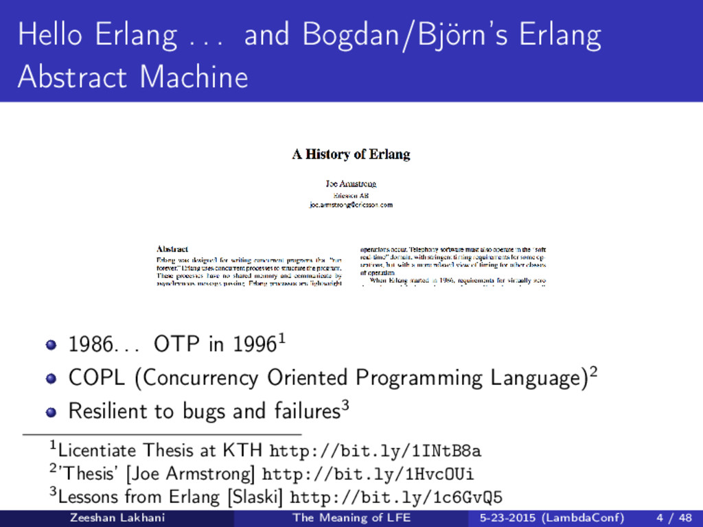 Hello Erlang . . . and Bogdan/Björn's Erlang Ab...