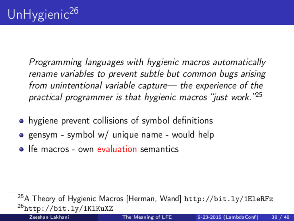 UnHygienic26 Programming languages with hygieni...