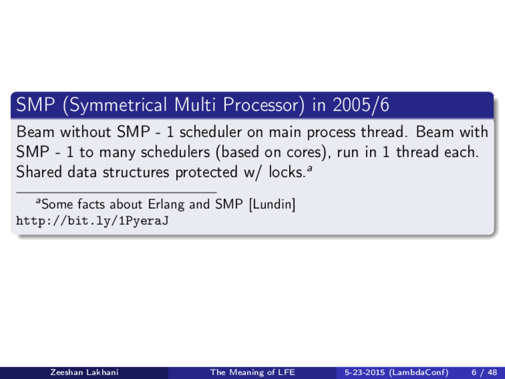 SMP (Symmetrical Multi Processor) in 2005/6 Bea...