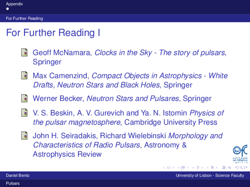 Appendix For Further Reading For Further Readin...