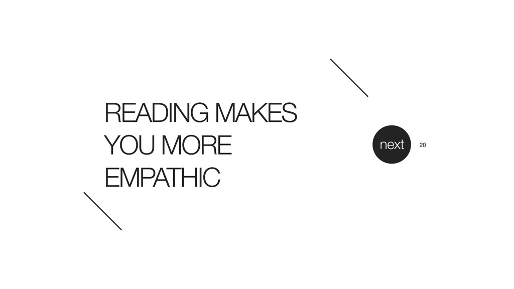 READING MAKES YOU MORE EMPATHIC next 20