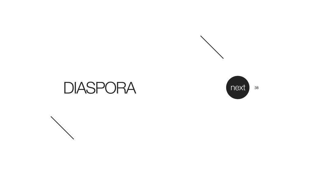 DIASPORA next 38