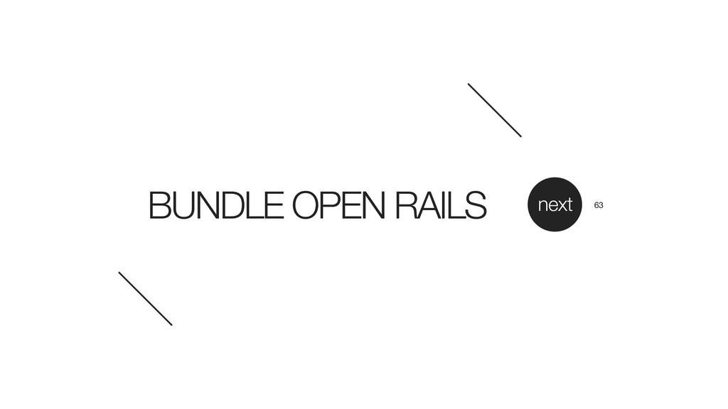 BUNDLE OPEN RAILS next 63