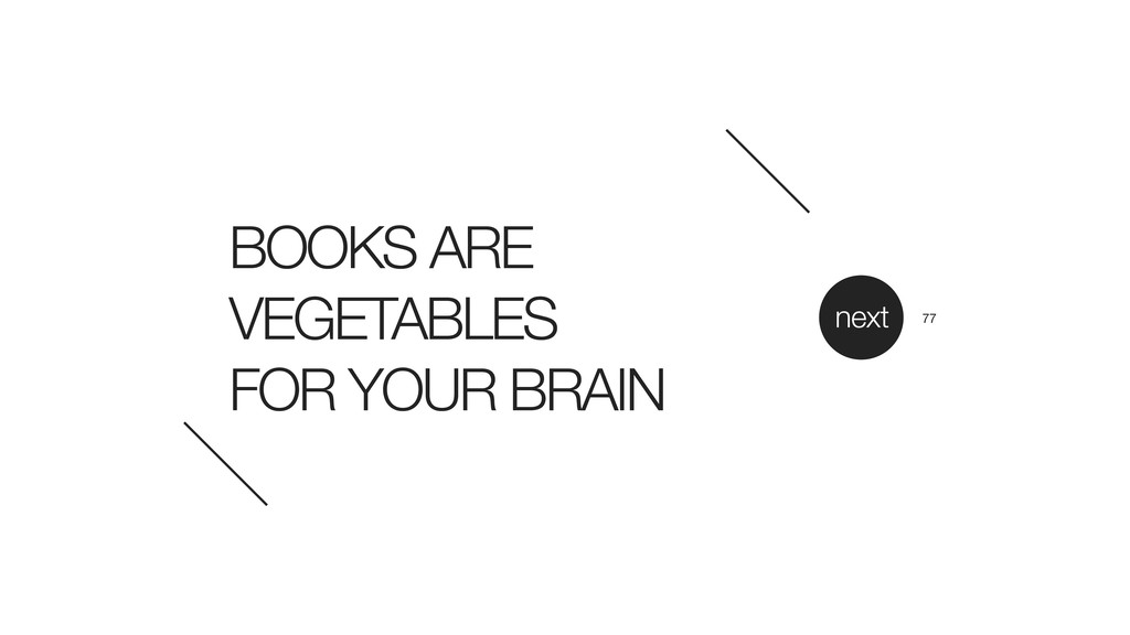 BOOKS ARE