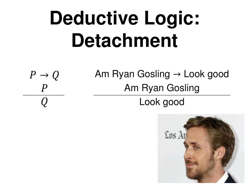 Deductive Logic: Detachment  →    Am Ryan Gosli...
