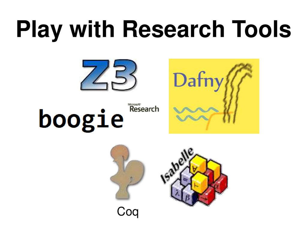 Play with Research Tools Coq