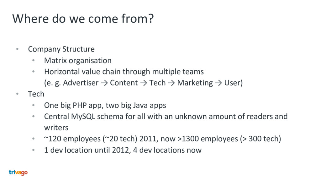 Where do we come from? • Company Structure • Ma...