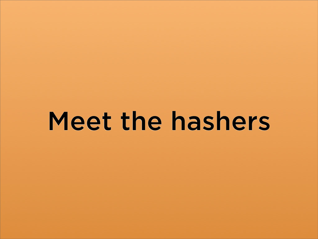 Meet the hashers