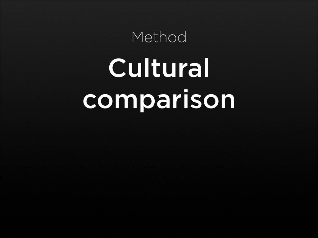 Cultural comparison Method