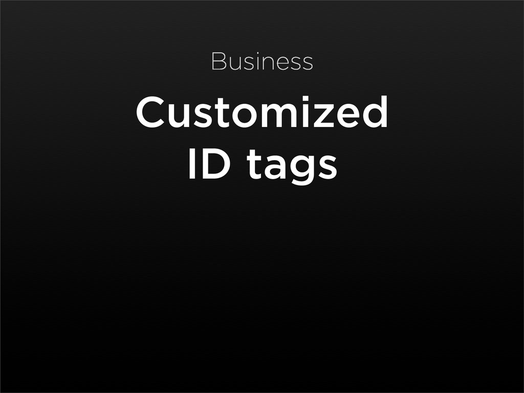 Customized ID tags Business