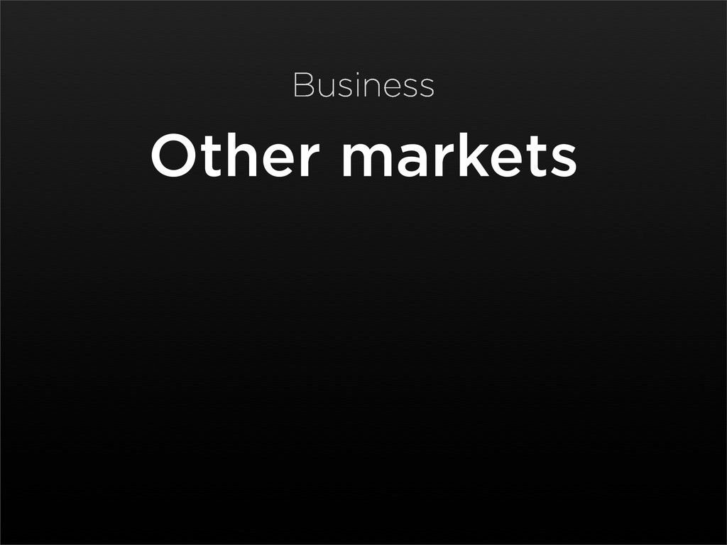 Other markets Business