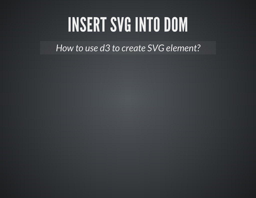 How to use d3 to create SVG element?