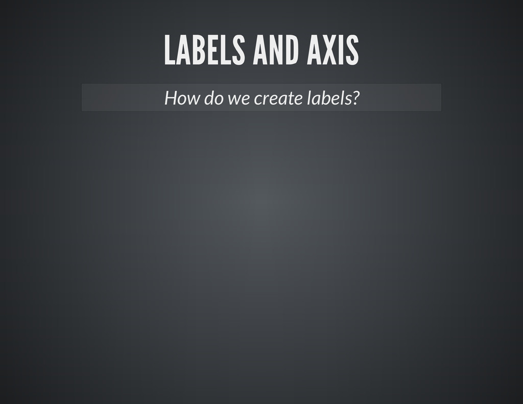How do we create labels?