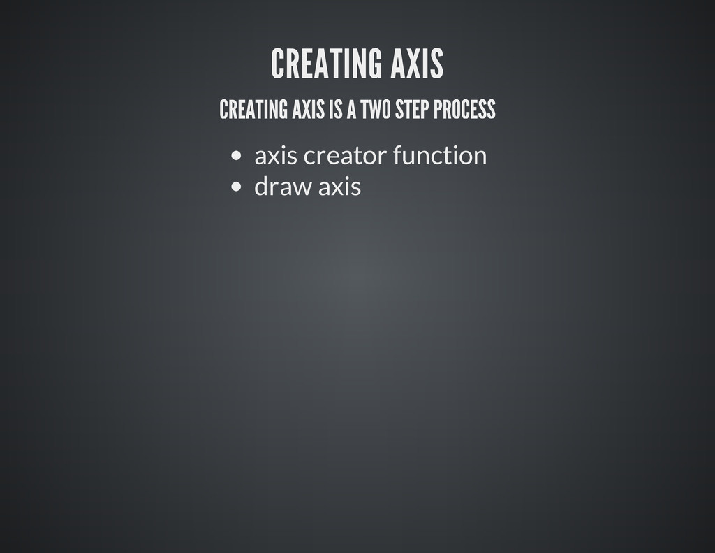 axis creator function draw axis