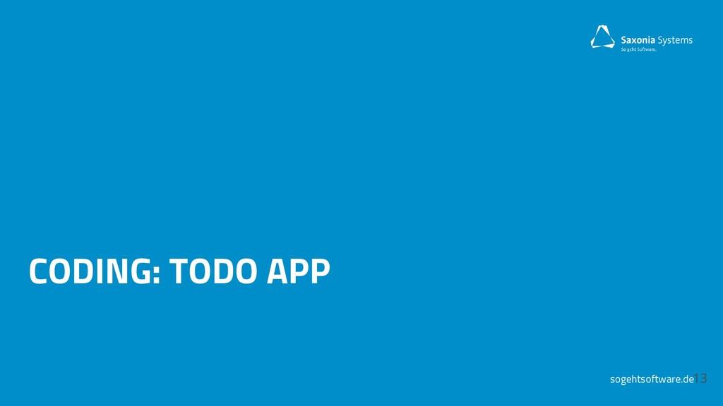 sogehtsoftware.de CODING: TODO APP 13