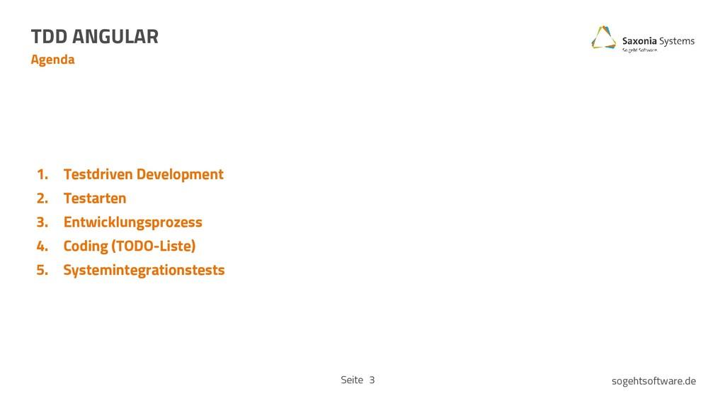 Seite sogehtsoftware.de Agenda TDD ANGULAR 3 1....