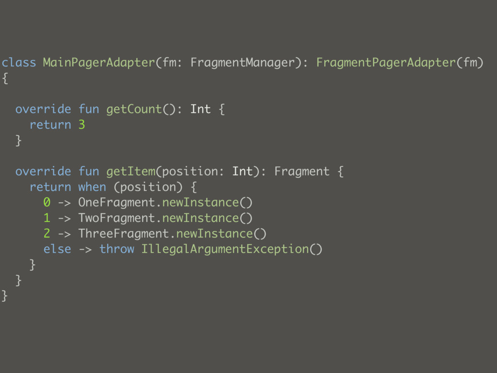 class MainPagerAdapter(fm: FragmentManager): Fr...