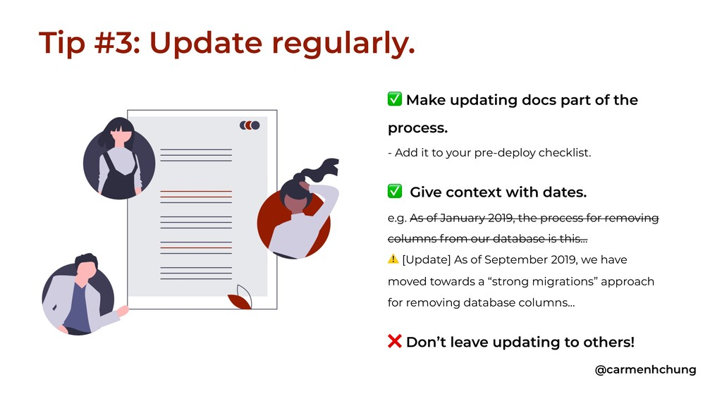 ✅ Make updating docs part of the process. - Add...