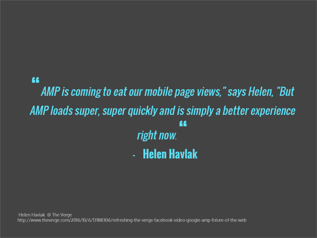 """""""AMP is coming to eat our mobile page views,"""" s..."""