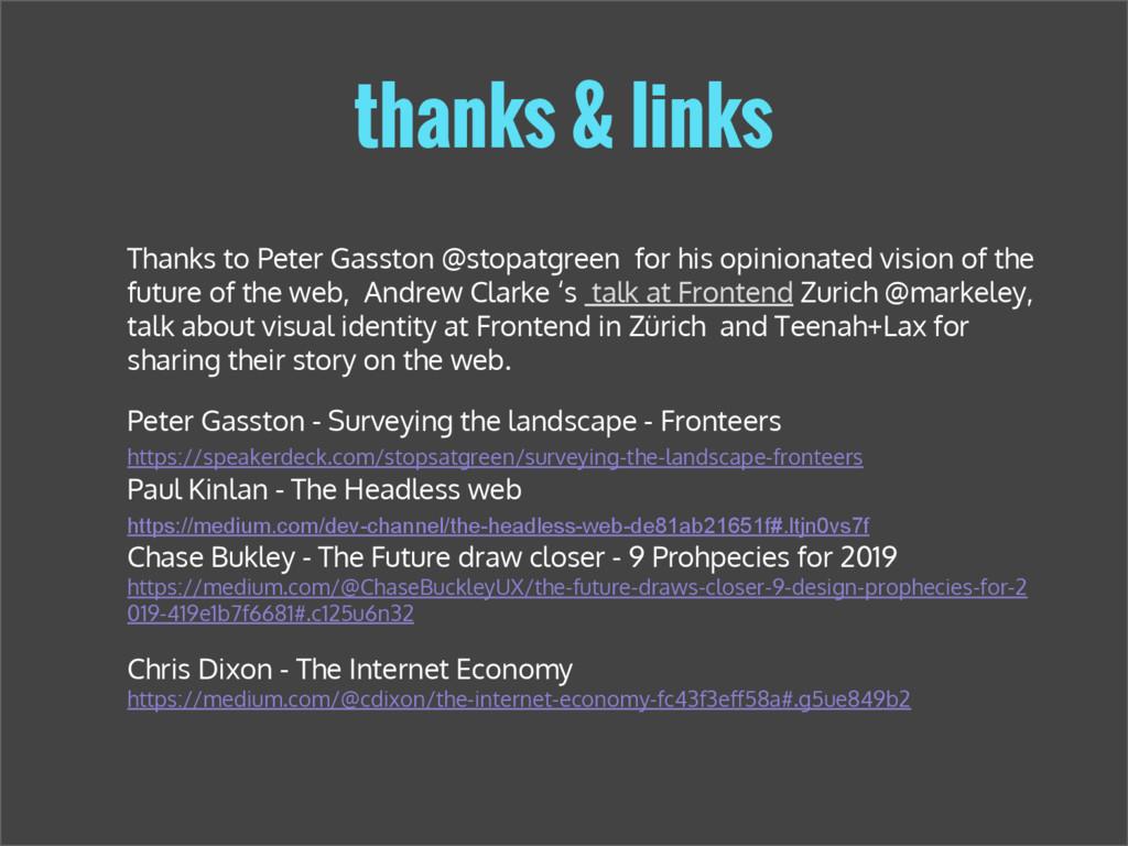 thanks & links Peter Gasston - Surveying the la...