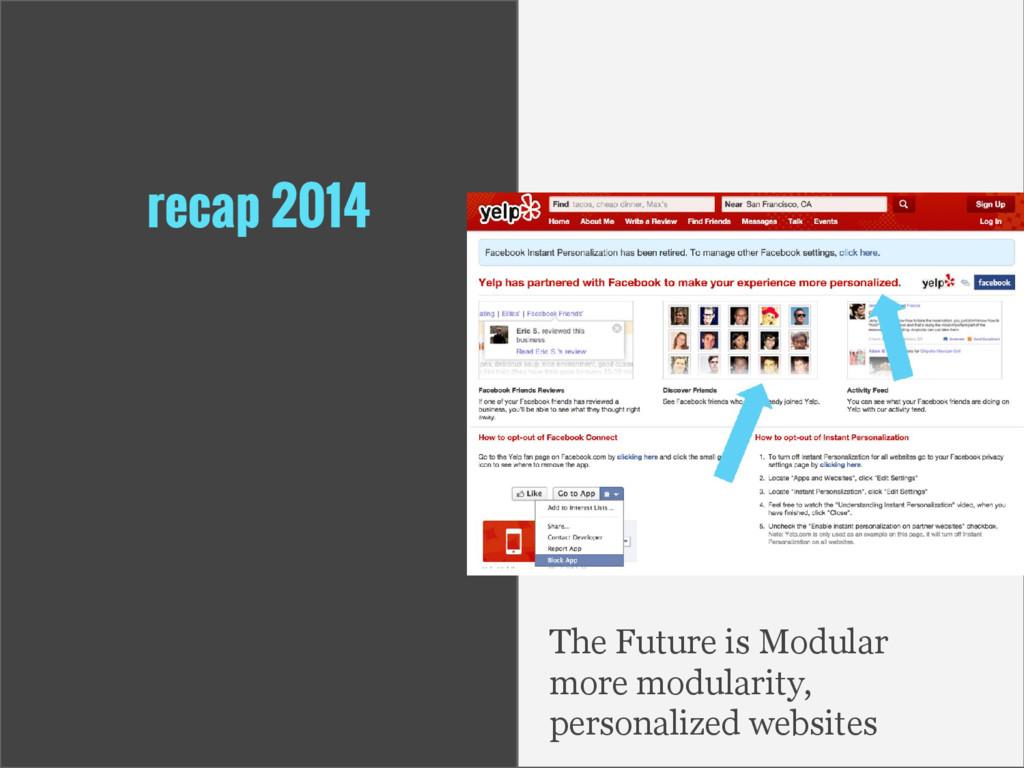 recap 2014 The Future is Modular more modularit...